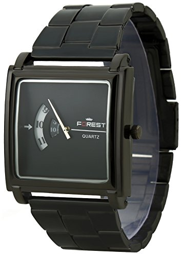 Dk Forest Black Dial Round Shape Numeric Black Metal Strap Analogue Wrist Watch For Mens & Boys (Fst-0001)