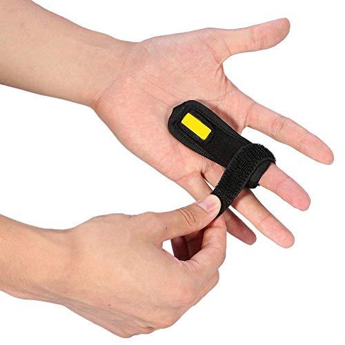 PINCOU Einstellbare Trigger Finger Schiene für Finger Steifigkeit mit Extra Haken & Loop Tape Fit Alle Finger, klick & Popping Schmerzlinderung von Stenose Tenosynovitis, Schwarz, One Size -
