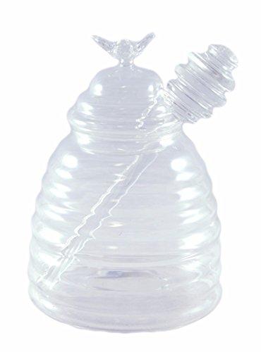 Honig Topf Deko Glas mit Honig Kamm Dipper (Biene Honig Topf)