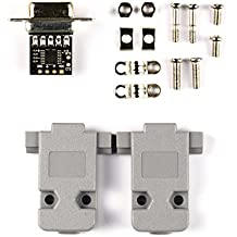 Conversor ultracompacto de RS232a TTL con DB9 hembra y capucha (3V a 5,5V)