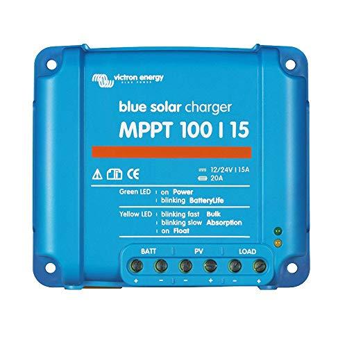 Solarladeregler Victron Energy BlueSolar MPPT und passendes Zubehör (3. BlueSolar Laderegler MPPT 100/15)