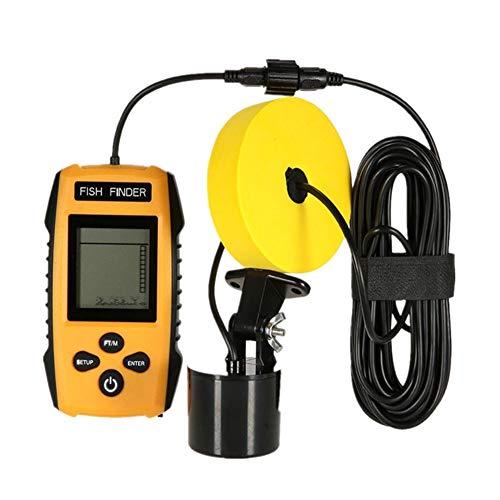 Evav-YTY Fish Finder 100M 200KHz Unterwasser LCD Sonar Alarm Transducer Fishfinder Tragbaren Sonar-fishfinder