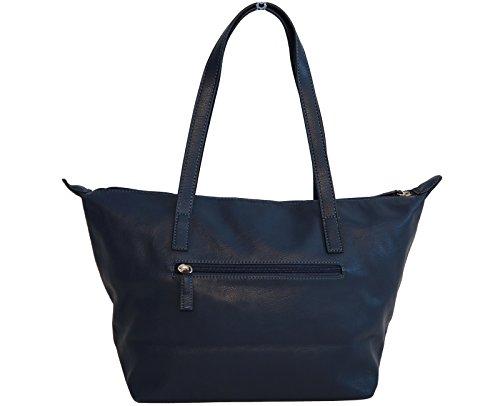 Borsa donna David Jones in ecopelle modello shopper blu scuro