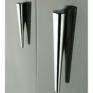 Handles & Ironmongery Libra Designer Kitchen Bedroom Study Handles-Nickel-Chrome-Many Designs In Stock - 280Mm Long-Hole Centres 64-96M... - Satin Nickel
