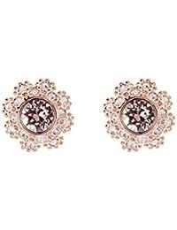 Ted Baker Women Brass Pink Stud Earrings TBJ1266-24-134 gAe94