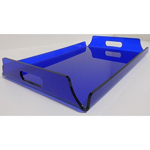 Fimel-Tablett aus Plexiglas bunt Größe 44x 30cm Dicke 5mm blau
