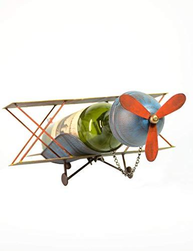 WDDqzf ornament Skulptur Dekoration Flugzeug Flugzeug Weinregal Weinlagerung Weinflaschenregal Flaschenhalter 38Cml (Weihnachts-ornament Das Cast)