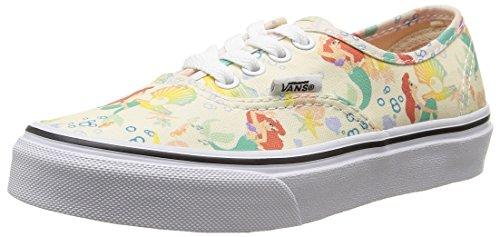 Vans U Classic Slip-On Disney Sneakers, Bambini, Multicolore (Disney/Ariel/White), 35