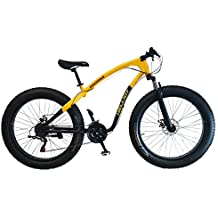 Helliot Bikes Arizona Fat Bike Bicicleta de Montaña, Adultos Unisex, Amarillo/Negro,