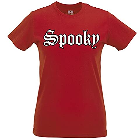 Old English Spooky Scary Halloween-Partei-Kostüm Scary Trick Frauen T-Shirt (Old English Kostüm)
