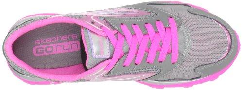 Skechers Go Run 80651L Mädchen Sneaker Grau (GYNP)