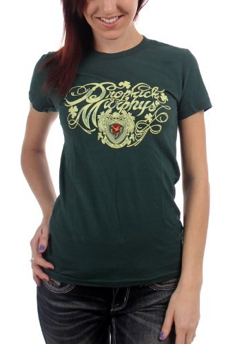Dropkick Murphys - Da donna Da donna Signed Script T-Shirt, Size: Small, Color: G...
