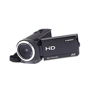 Andoer 720P caméscope numérique Full HD 16MP Kit caméra numérique 8x Zoom DV HDV-802S noir