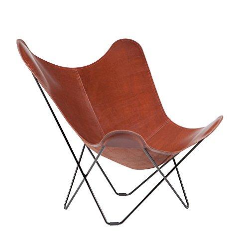 cuero Pampa Mariposa Butterfly Chair - Sillon marrón/Oak 71 ...