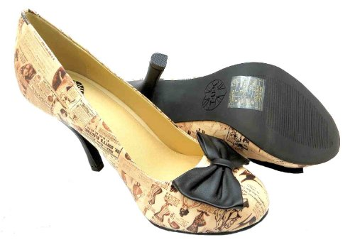Damen Schuhe T.U.K. A8567l Lingerie Wäsche Synthetik Pumps Beige