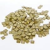 RAYHER 14543620 Acryl-Mosaik 1 x 1 cm metallic, SB-box, circa 205 Stück, 50 g, brillant gold