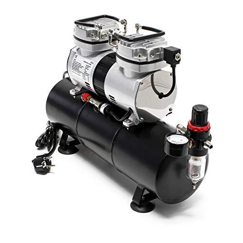 Compresor aerografía HS-196L Tanque aire Regulador presión OnOff automáticos Aerógrafo Modelismo