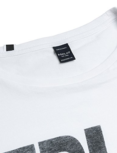 REPLAY M3261 .000.2660, T-Shirt Uomo Bianco (Optical White)