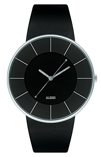 Alessi - AL8004 - Montre Homme - Automatique - Analogique - Bracelet Cuir Noir