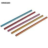 FashLady 5pcs Metal Straws Colorful Aluminum Drinking Straws Food Grade Juicy Straws Mixed Colors Party Straws