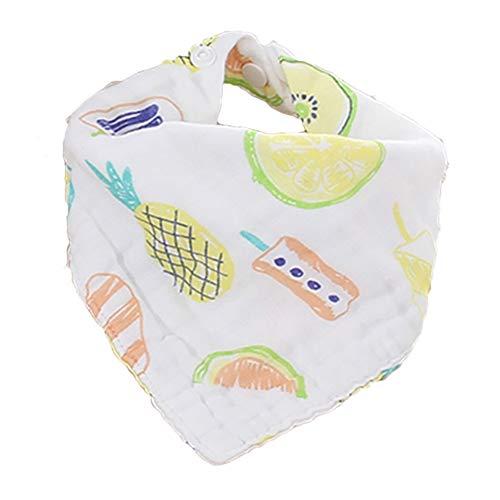 Naisicatar Triangles Cartoon-Baby-Lätzchen super saugfähiges Tuch Bio-Geifer-Lätzchen für Boys & Girls (Ananas) Nizza Geschenk