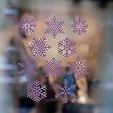 WGZLGZ Stickers Muraux Décalques de flocons de neige Art Clip flocons de neige Clip de flocons de neige autocollant fenêtre créative Home Decor Stickers muraux, H630 Violet