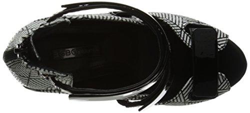 BCBGeneration Bg-gala Robe Sandal Black White-Black