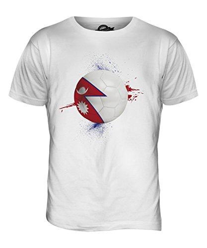 CandyMix Nepal Fußball Herren T Shirt Weiß