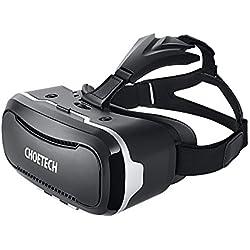 CHOETECH 3D VR Brille Headset Virtual Reality BrilleVideo Filme Spiele Goggles mit verstellbarer Lens und Strap für iPhone, HTC, LG und andere 3.5-6 Zoll Smartphones