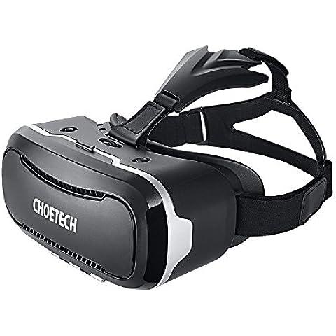 [3D VR Gafas ] CHOETECH 3D VR Auricular Glasses VR 3D Realidad virtual Caja con Ajustable Lente y Correa 3D VR casco de realidad virtual 3D Glasses Video Peliculas Juegos Gafas para iPhone, Samsung, HTC, LG y otros telefonos inteligentes 3.5-6