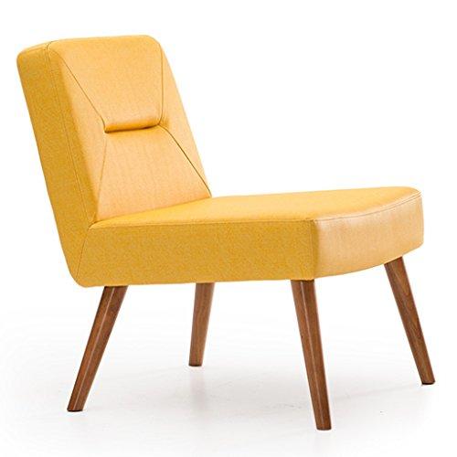 ERRU-Chaises Chaise à manger en bois massif nordique Ménage Moderne Simple Sofa Chaise de bureau de loisirs(59 * 59 * 74CM, couleur en option) ( Couleur : Le jaune , taille : 2 Pieces )