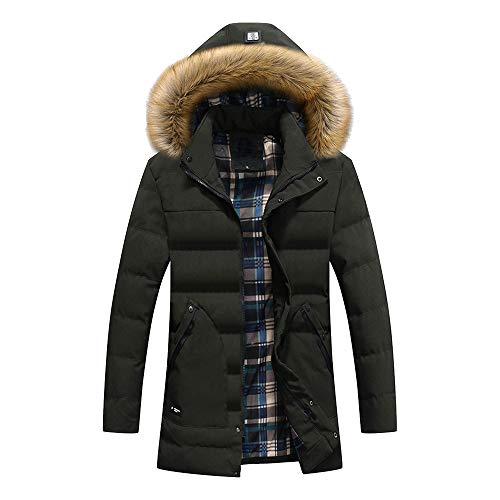 Herren Winter Mantel Jacke,Sunday Männer Parka Trenchcoat Steppmantel Hoody Bomberjacke Kapuzemantel Cargo Steppjacke Winter Outdoor...