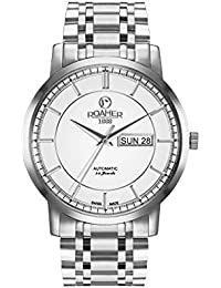 Roamer Men's Automatic Watch with White Dial Analogue Display and Silver Stainless Steel Bracelet 570637 41 15 50