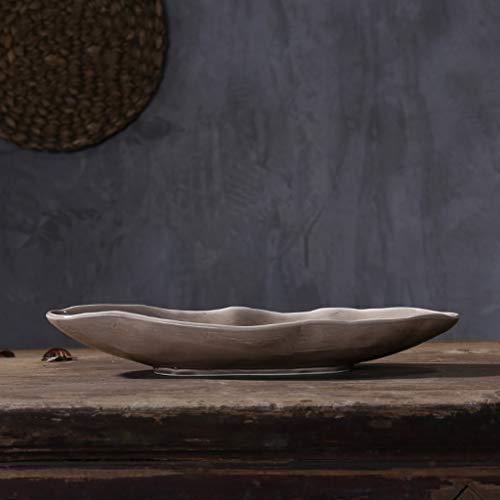 Li piccolo piatto- set da tavola a forma di barca retrò giapponese - sushi sashimi kimchi piatto da portata a freddo 【1 confezione】 tableware (dimensioni : m-46×16.5cm)