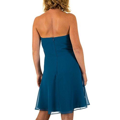 Vera Mont Chiffon Spitzen Kleid Für Damen bei Ital-Design Blau MKL-VM4665