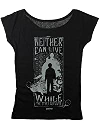 Harry Potter Neither Can Live - Harry & Voldemort T-shirt Femme noir