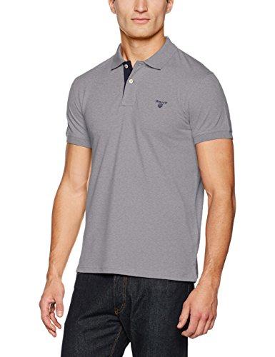 Gebraucht, Gant Herren Polo-Hemden Gr. L, Grau (Grau), meliert gebraucht kaufen  Wird an jeden Ort in Deutschland