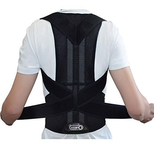 ZSZBACE Rückenstütze Lendenwirbel für Herren und Damen, volle Rücken Spange für Rückenschmerzen, Haltungskorrektur, 5 Größen (schwarz, XL (100-115cm))