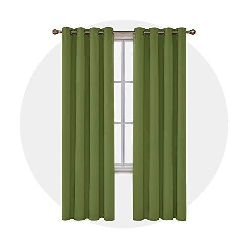 Deconovo tende oscuranti termiche isolanti moderne per salotto 140x270cm verde olivastro 2 pannelli