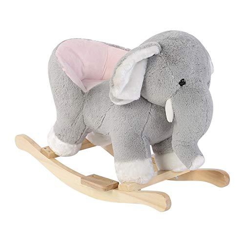 Baby Rocking Horse, Kid Ride On Toy, Baby Plush Rocking Horse, Cute Rocker Animal Elephant Rocking Chair Rocker Toy Nursery Gift for Children Kids