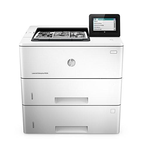 HP LaserJet Enterprise M506x (F2A70A) Mono Laserdrucker (Drucker, Duplex, LAN, ePrint, AirPrint, Cloud Print, NFC, USB, 1200 x 1200 dpi) weiß - Laser-farb-drucker Duplex Hp