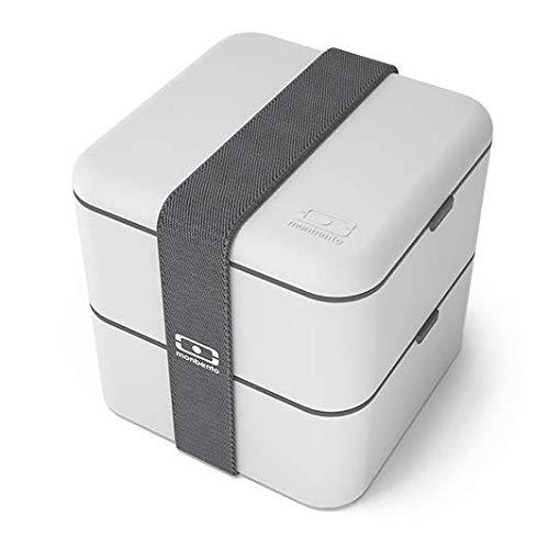 monbento - MB Square - Lunchbox - Coton - 14x14x14 cm Bento Lunch Box Case
