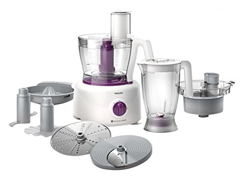 Philips Viva Collection HR7751/00 - Robot de cocina (3,4 L, Púrpura, Blanco, Giratorio, 2,2 L,...