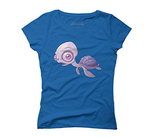 Sea Turtle Women's Graphic T-Shirt - Design By Humans Royal Blue