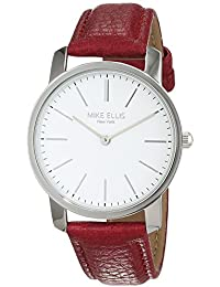 Mike Ellis New York Damen-dunkelpink-Armbanduhr Preppy Analog Quarz Kunstleder SL4527A10