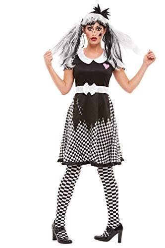 Smiffys 50942L - Disfraz de muñeca rota para mujer, talla L, color negro