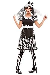 Smiffys 50942M - Disfraz de muñeca rota para mujer, talla M, color negro