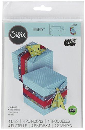 Sizzix 661552Thinlits sterben Set, Weihnachtsbaum Geschenk-Box von Lindsey Serata -