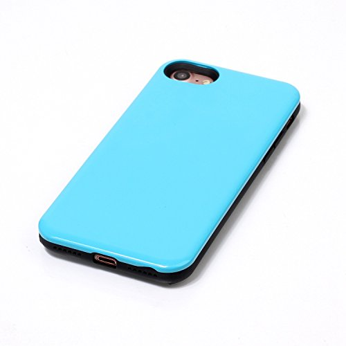 Case Cover IPhone 7, coperchio di protezione solido di colore posteriore dura di plastica per Apple IPhone 7 ( Color : Gray , Size : IPhone 7 ) Blue