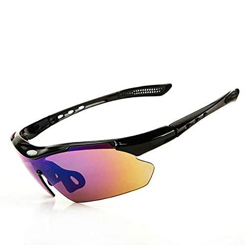 Aeici Sportbrille TPU+PC Radbrille Frauen Schutzbrille Sonnenbrille Schwarz